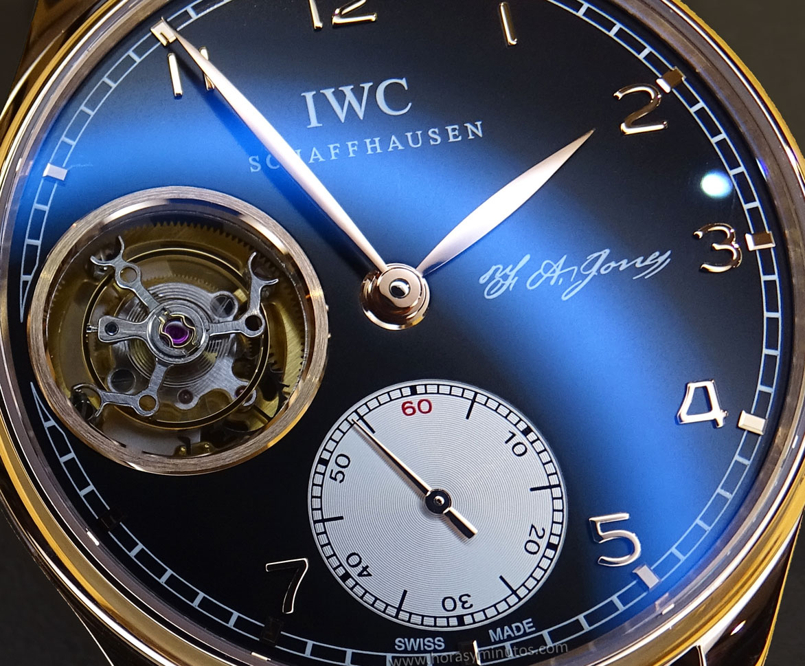 IWC Portugues Tourbillon Manual Jones pequeño segundero