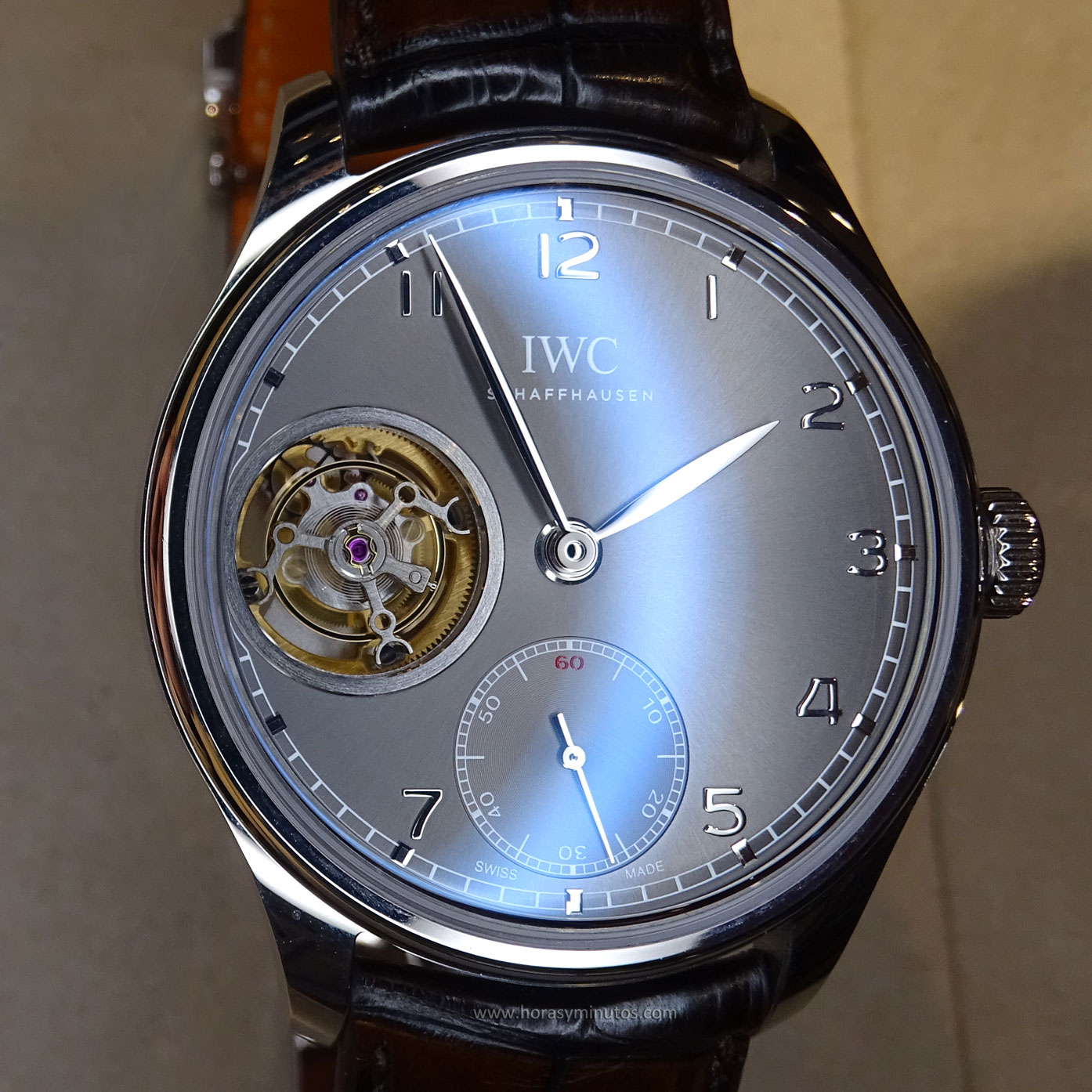 IWC Portugues Tourbillon Manual pizarra