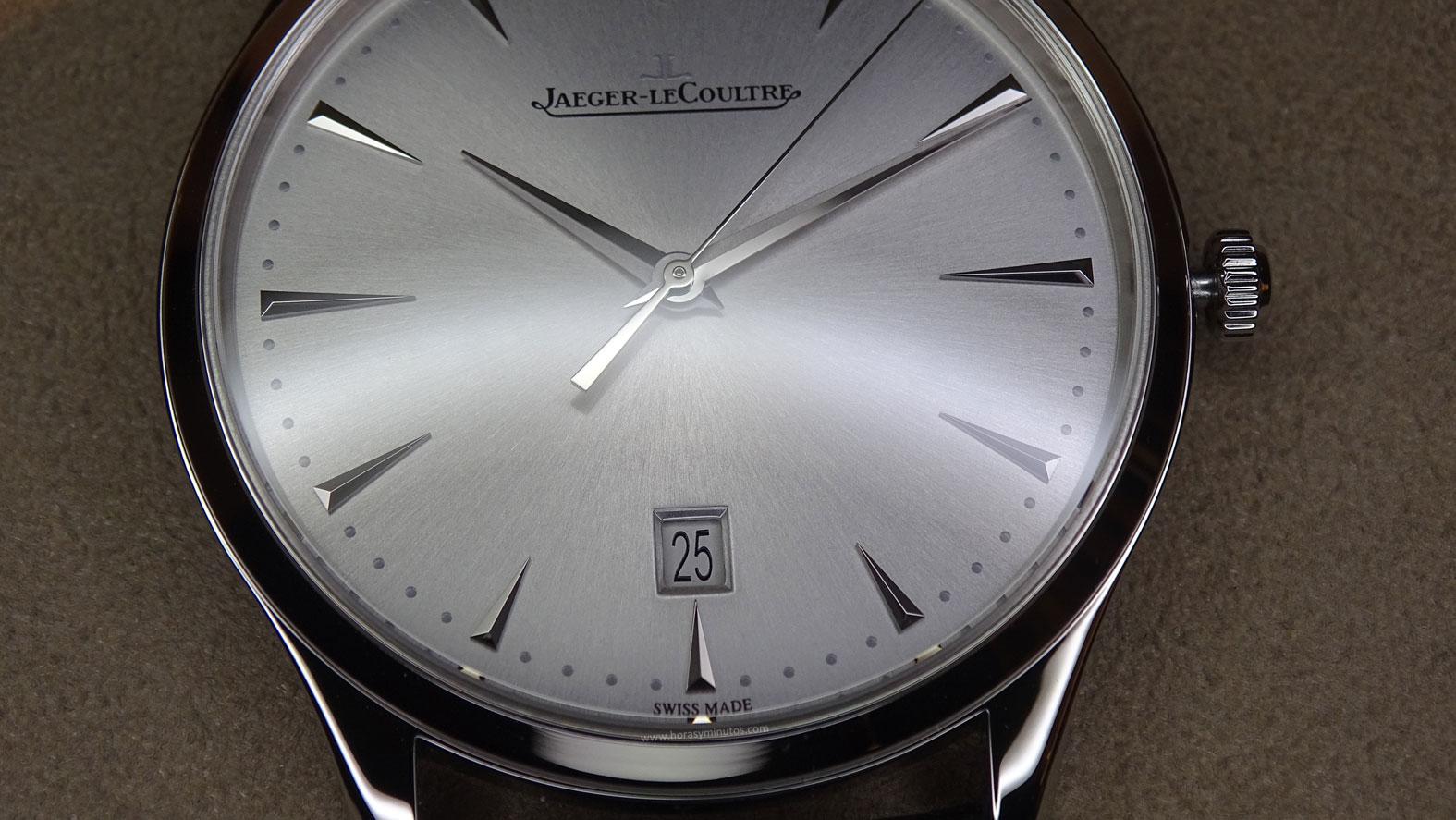 Jaeger-LeCoultre Master Ultra Thin Acero ventana de fecha