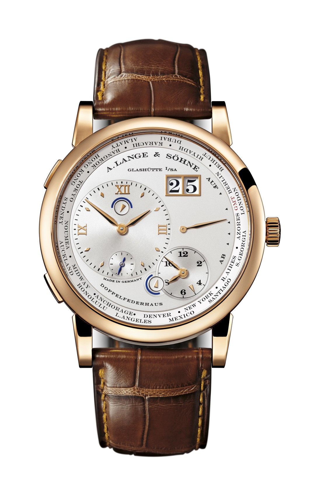 Lange 1 Time Zone oro rosa
