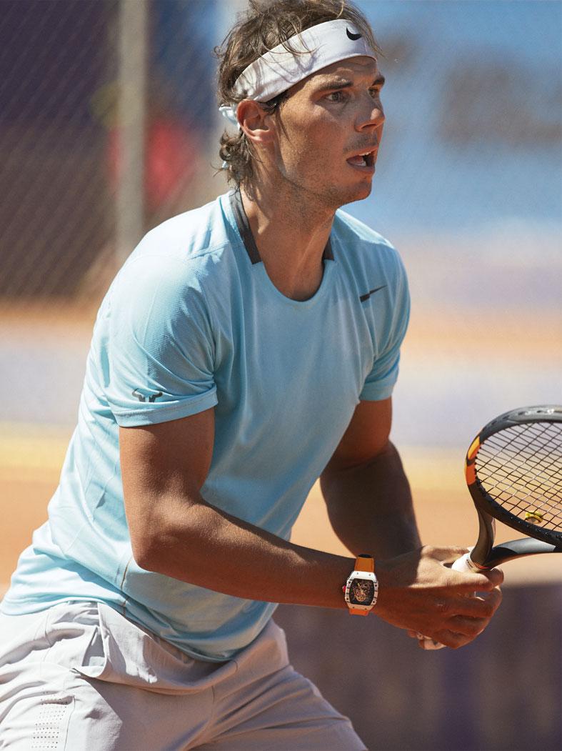 Richard Mille RM 27-02 Tourbillon Rafael Nadal preparándose para volar