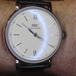 En la muñeca: IWC Portofino Hand-Wound Pure Classic acero y oro