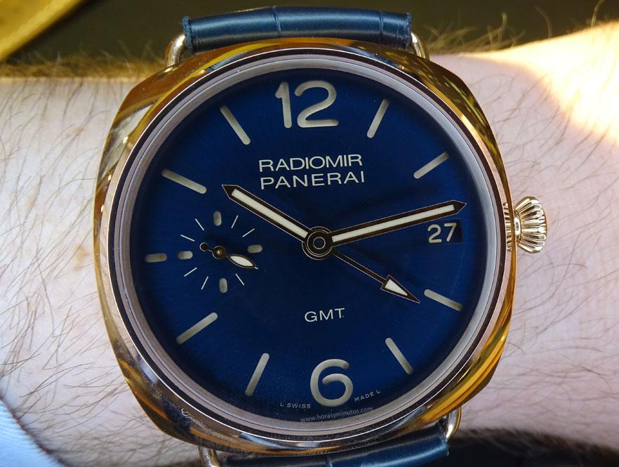 SIAR 2015 - Panerai Radiomir GMT oro rojo en la muñeca