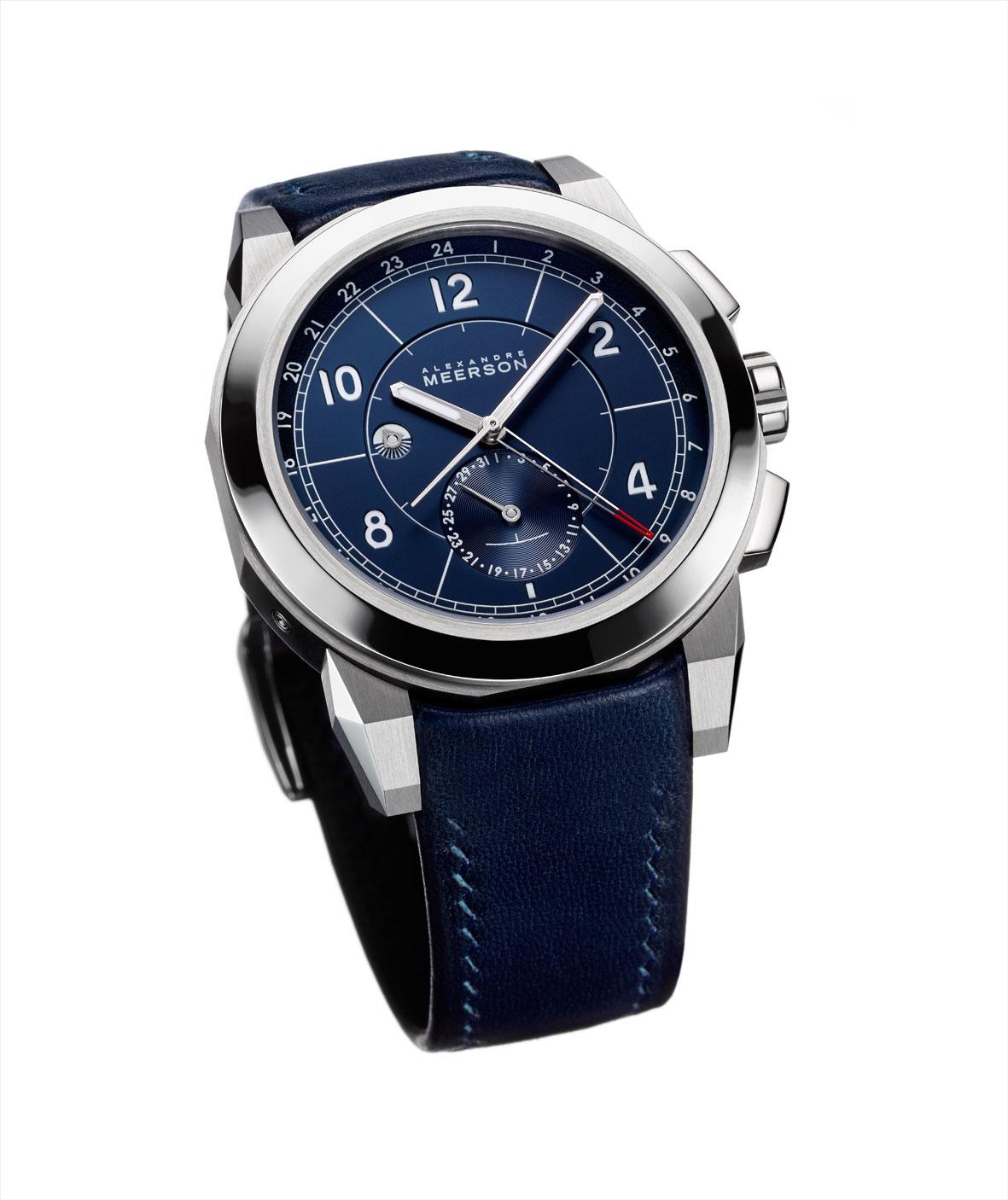Alexandre Meerson D15 MK-1 GMT azul vertical