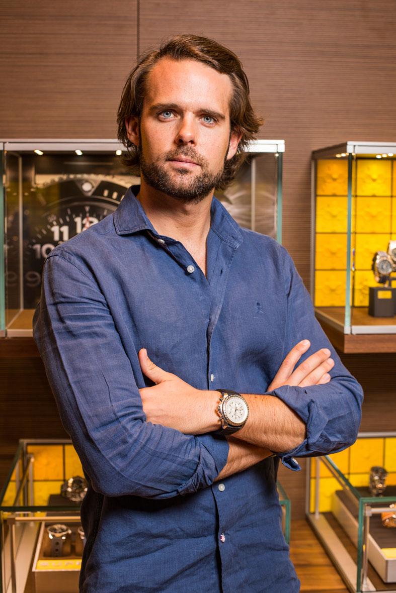 Andy Soucek y su Breitling for Bentley