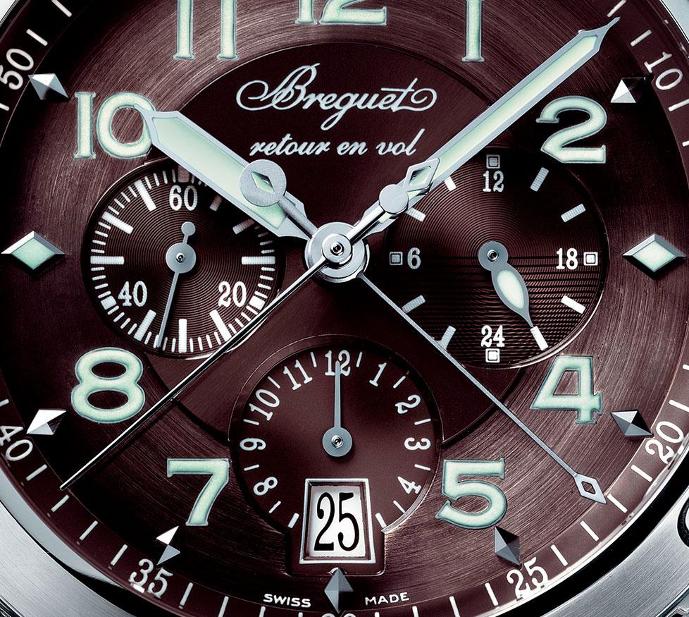 Breguet Chronograph Type XXI detalle de la esfera
