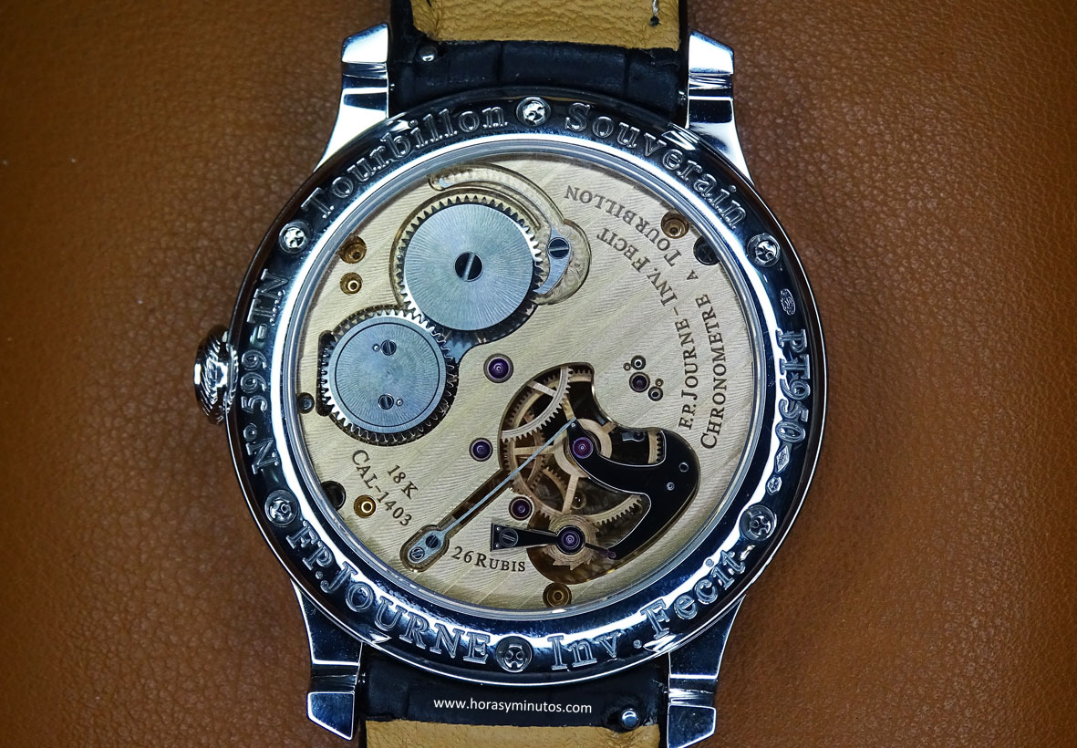 F P Journe Tourbillon Souverein Bleu calibre