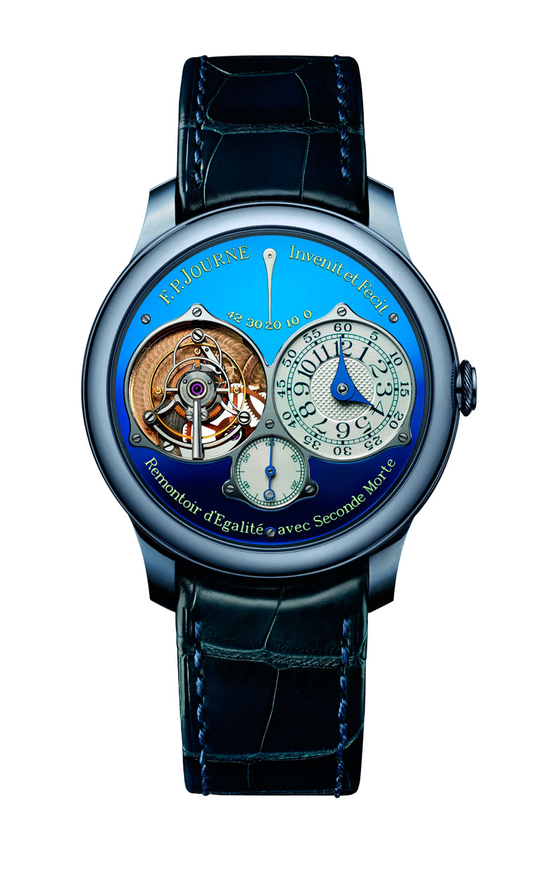 F P Journe Tourbillon Souverein Bleu frontal