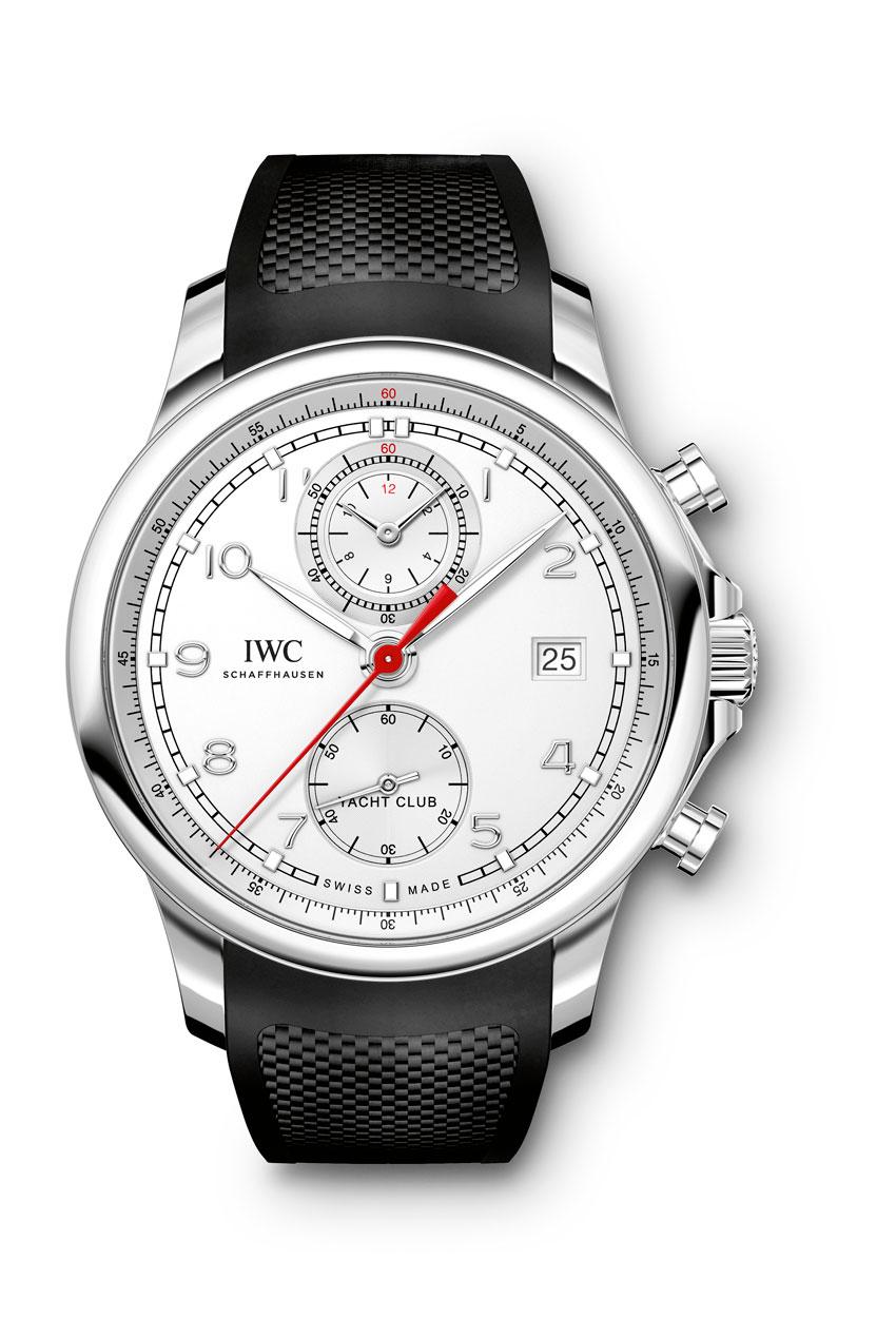 IWC Portugieser Yatch Club Chronograph acero esfera plateada