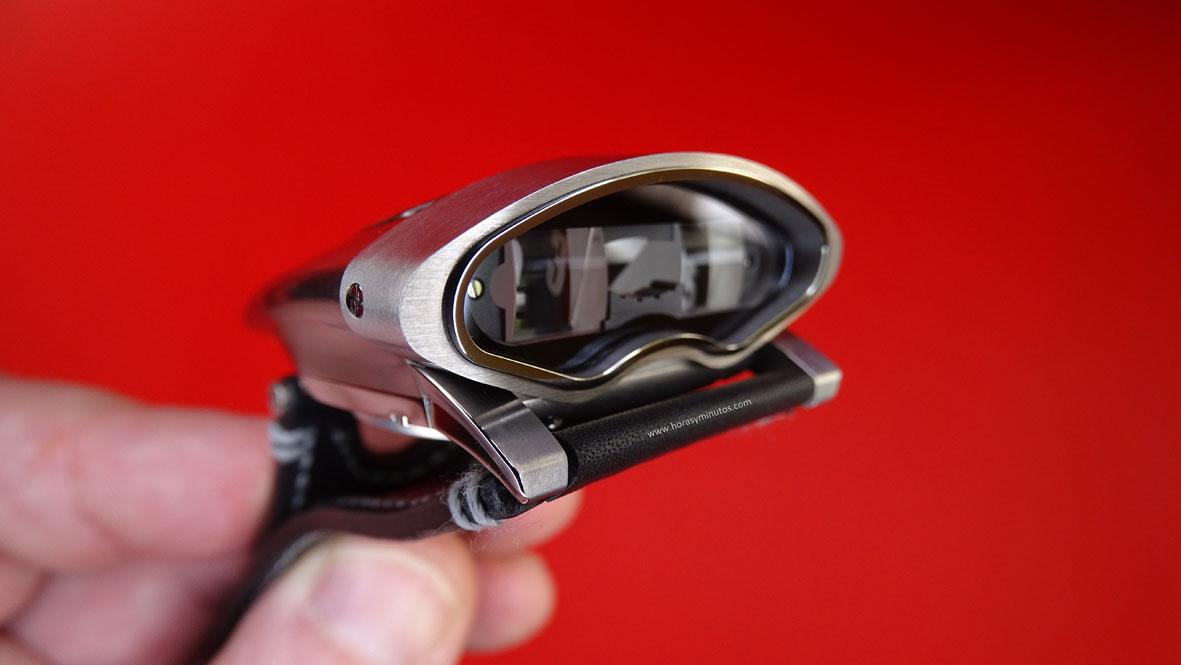MBF HMX vista de las lentes de aumento
