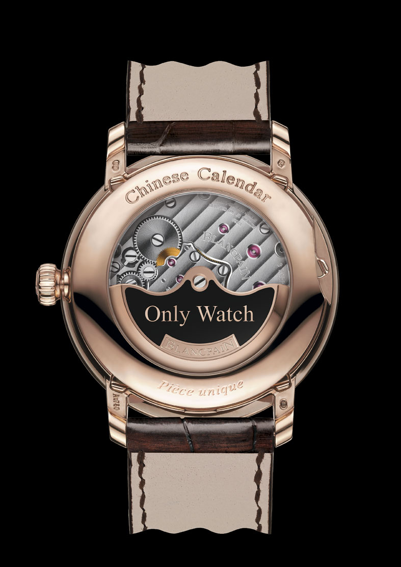 Blancpain Villeret Calendrier Chinois Tradtionnel para Only Watch - reverso