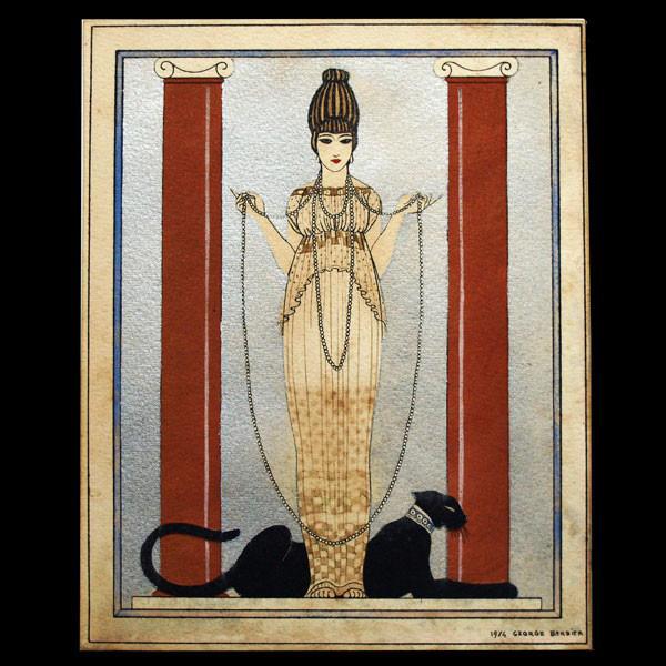 George Barbier La Femme a la Panthere Cartier 1914