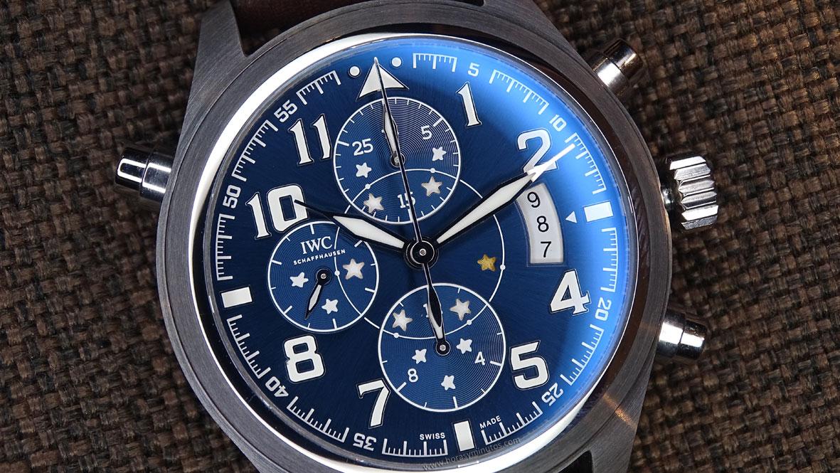 IWC Pilot's Watch Double Chronograph Edition Le Petit Prince esfera