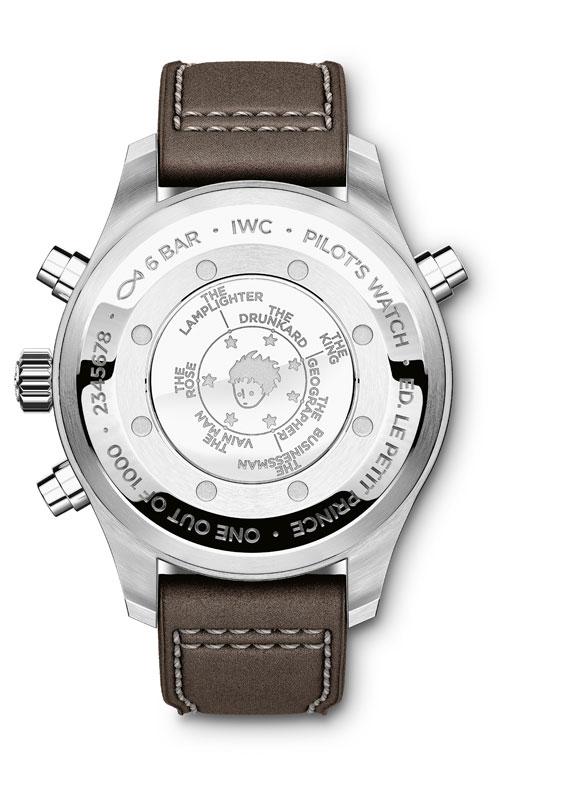 IWC Pilots Watch Double Chronograph Edition Le Petit Prince - reverso