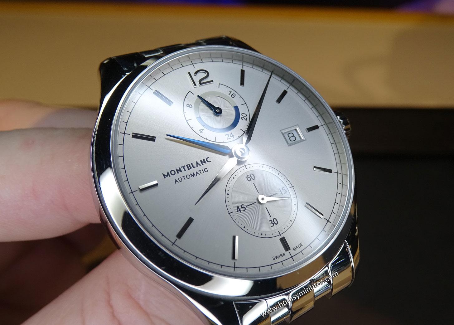 Montblanc Chronometrie Dual Time acero - esfera