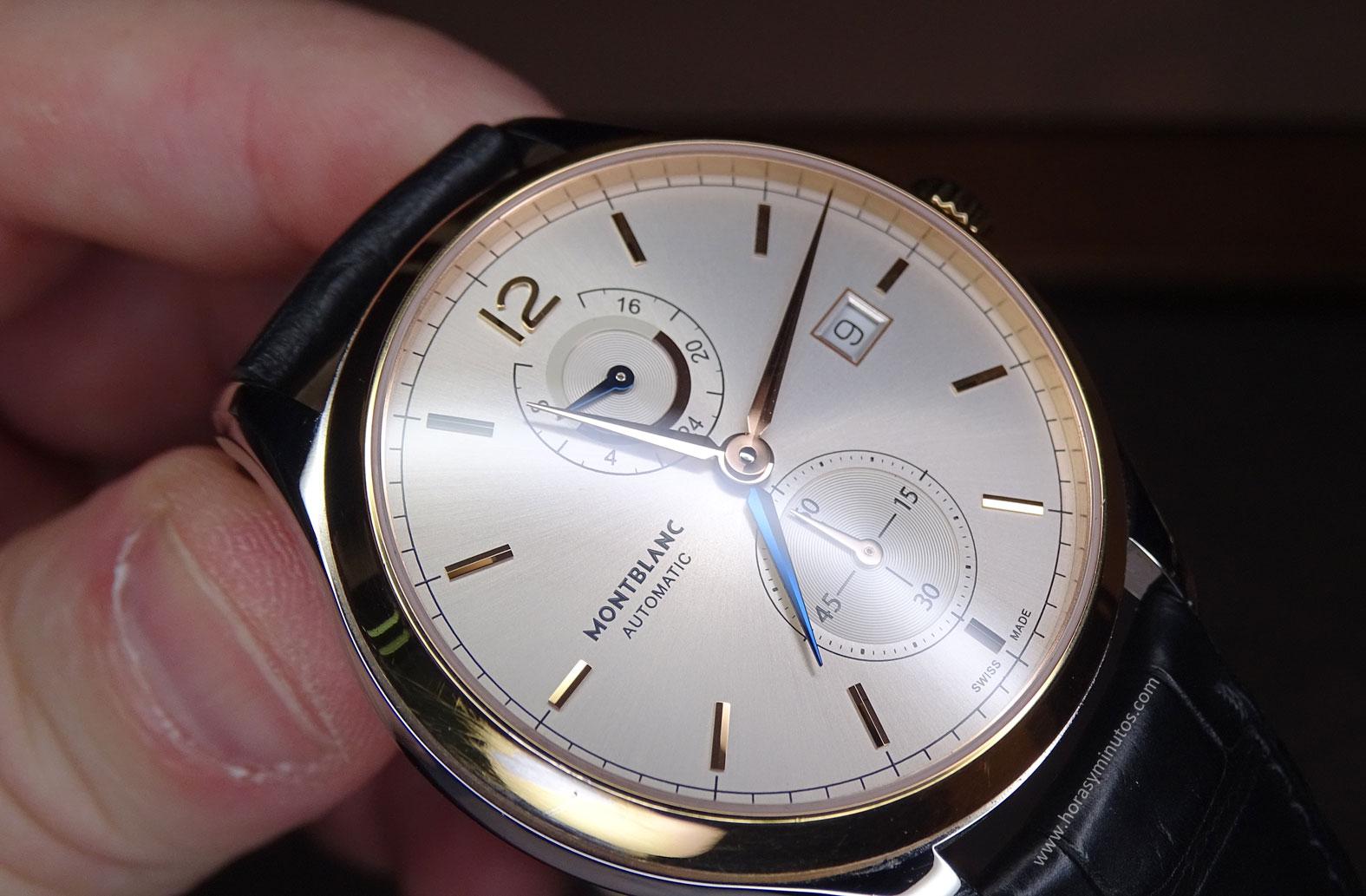 Montblanc Chronometrie Dual Time oro - esfera