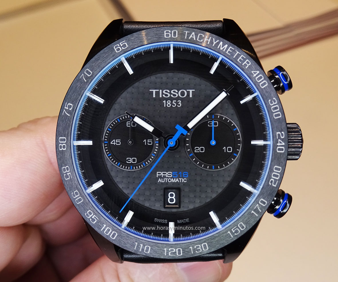 Tissot PRS 516 Automatic Chronograph azul - frontal