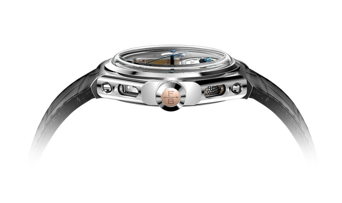 Chronomètre FERDINAND BERTHOUD FB 1 oro gris perfil