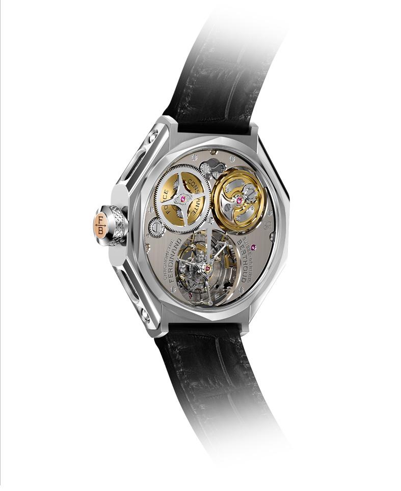Chronomètre FERDINAND BERTHOUD FB 1 oro gris reverso