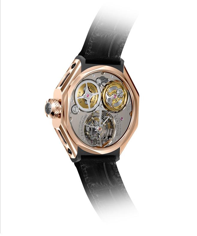 Chronomètre FERDINAND BERTHOUD FB 1 oro rosa reverso