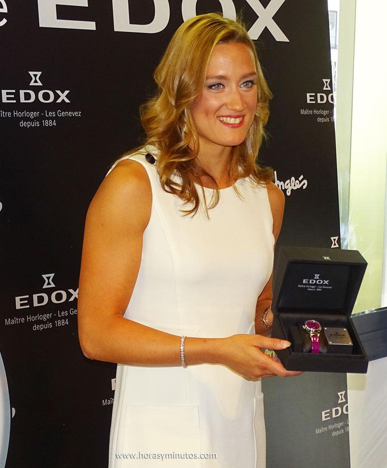 Edox LaPassion Mireia Belmonte con el nuevo reloj 2