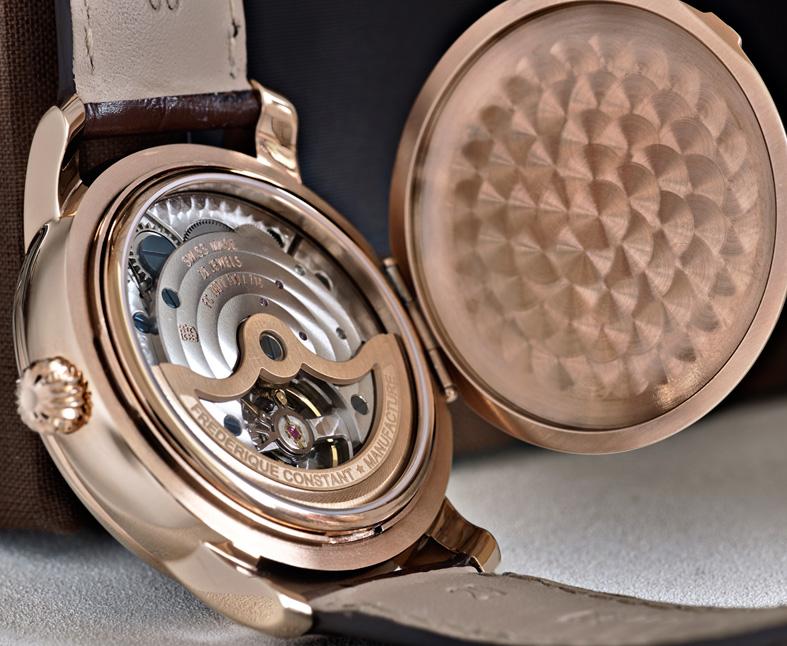 Frederique Constant Classic Manufacture Moonphase oro rosa trasera