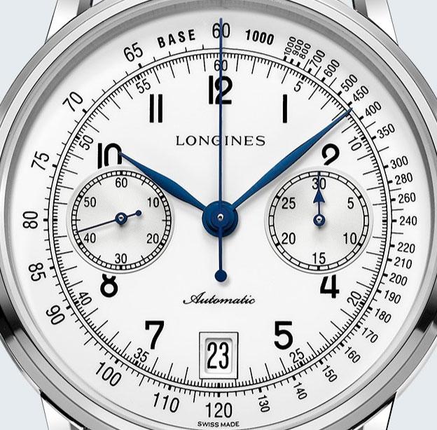 Longines Column-Wheel Single Push-Piece Chronograph esfera
