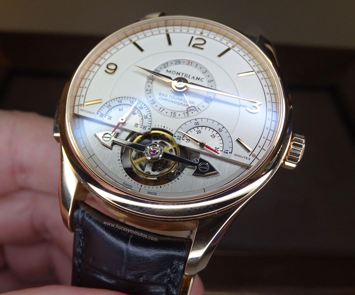 Montblanc Heritage Chronométrie ExoTourbillon Minute Chronograph detalle de la esfera