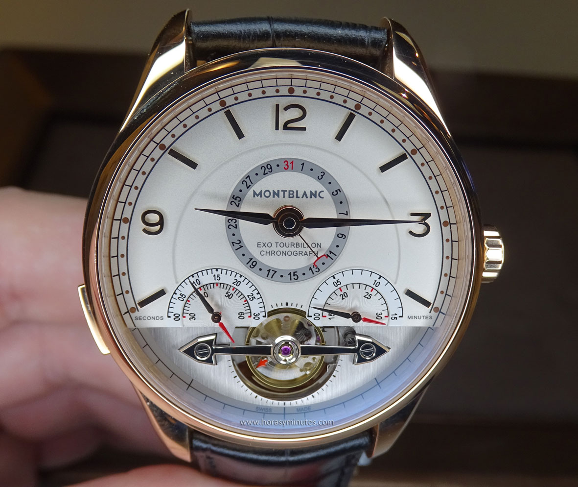 Montblanc Heritage Chronométrie ExoTourbillon Minute Chronograph frontal
