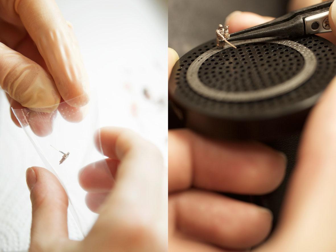 Colocando las miniaturas
