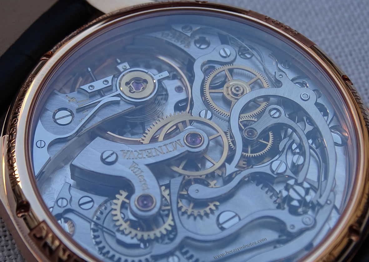 Montblanc 1858 Chronograph Tachymeter Edición Limitada calibre 16.29 detalle del volante
