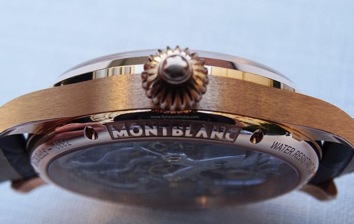 Montblanc 1858 Chronograph Tachymeter Edición Limitada contraste de texturas
