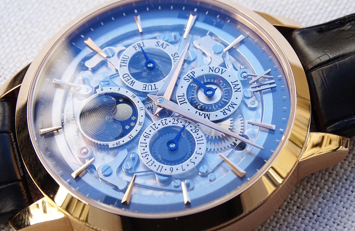Montblanc Heritage Spirit Perpetual Calendar Sapphire esfera