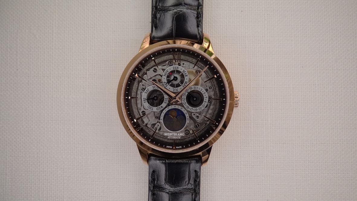 Montblanc Heritage Spirit Perpetual Calendar Sapphire frontal 1
