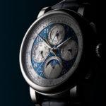 A. Lange & Söhne 1815 Rattrapante Perpetual Calendar Handwerkskunst, y 4 modelos en azul