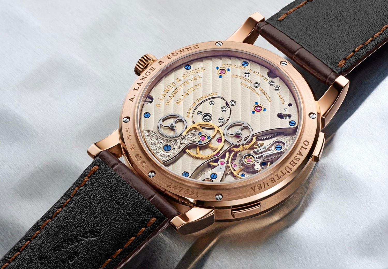 Calibre L141.1 del Lange 1 Time Zone