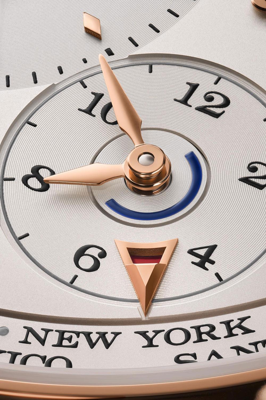 detalle del la subesfera de hora en origen del Lange 1 Time Zone