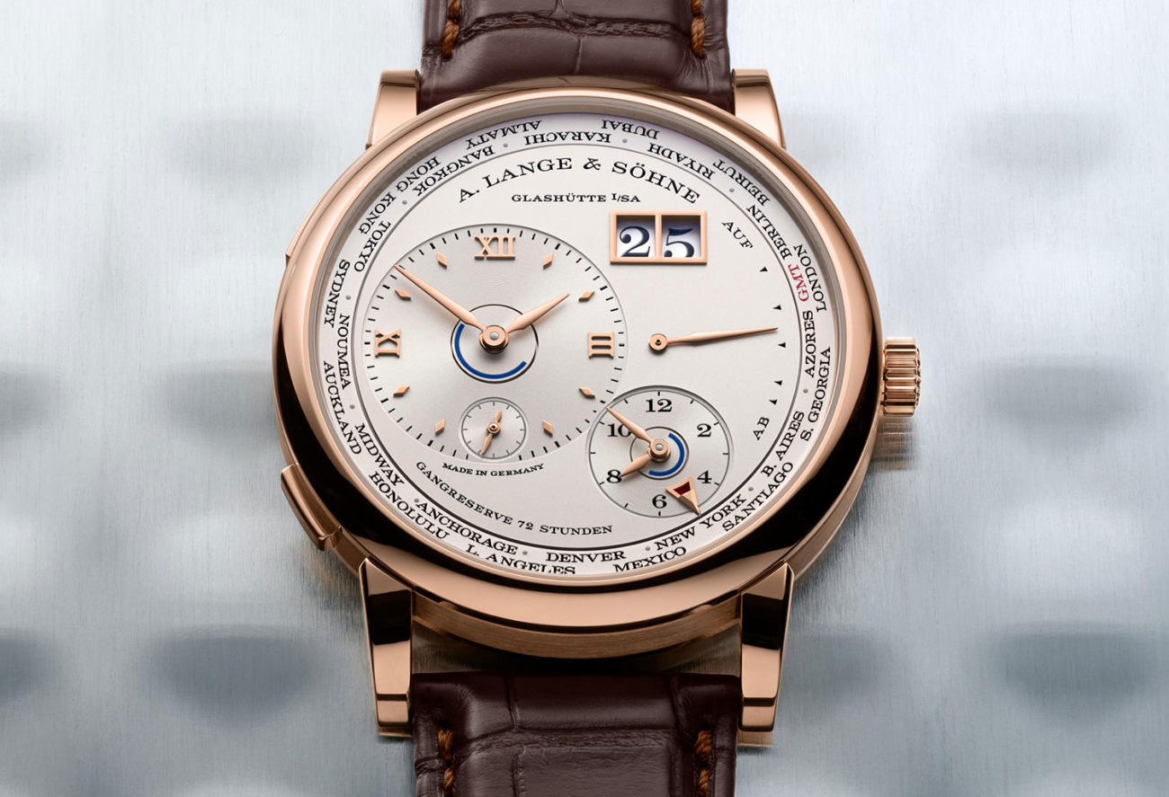 Lange 1 Time Zone en oro rosa