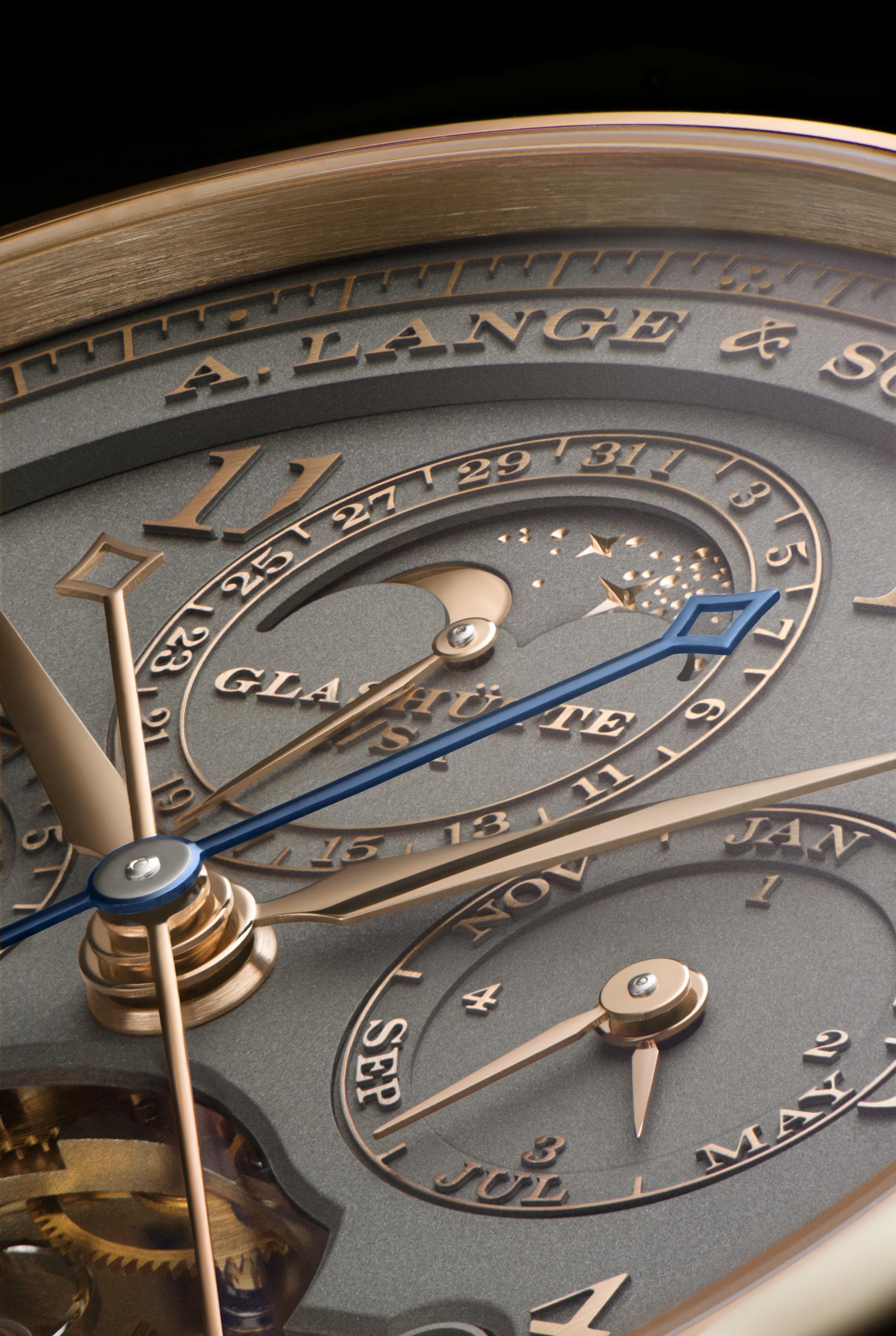 Detalle de la esfera del Tourbograph Perpetual
