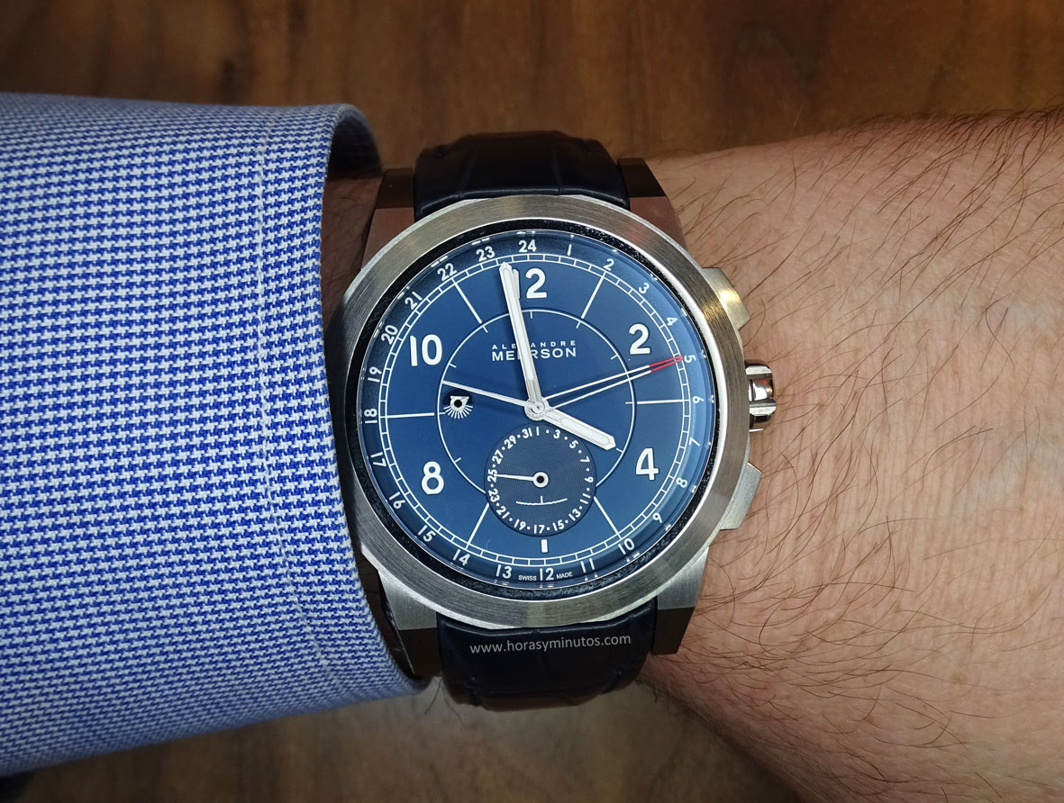Alexandre Meerson D15 MK-1 GMT esfera azul Salon QP