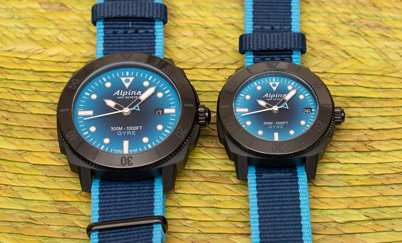 Los dos tamaños del Alpina Seastrong Diver Gyre Automatic