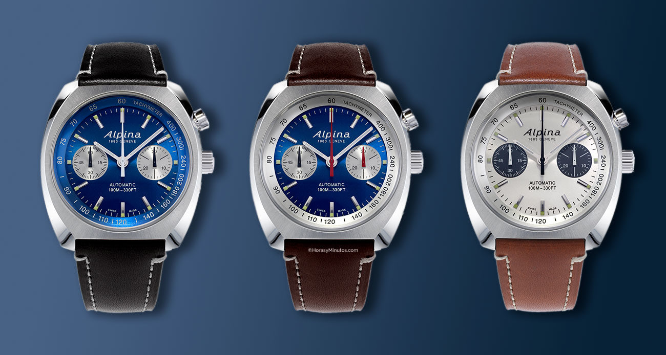 Los tres Alpina Startimer Heritage Chronograph