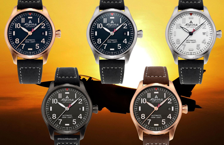 Los cinco modelos del Alpina Startimer Pilot Automatic 40 mm