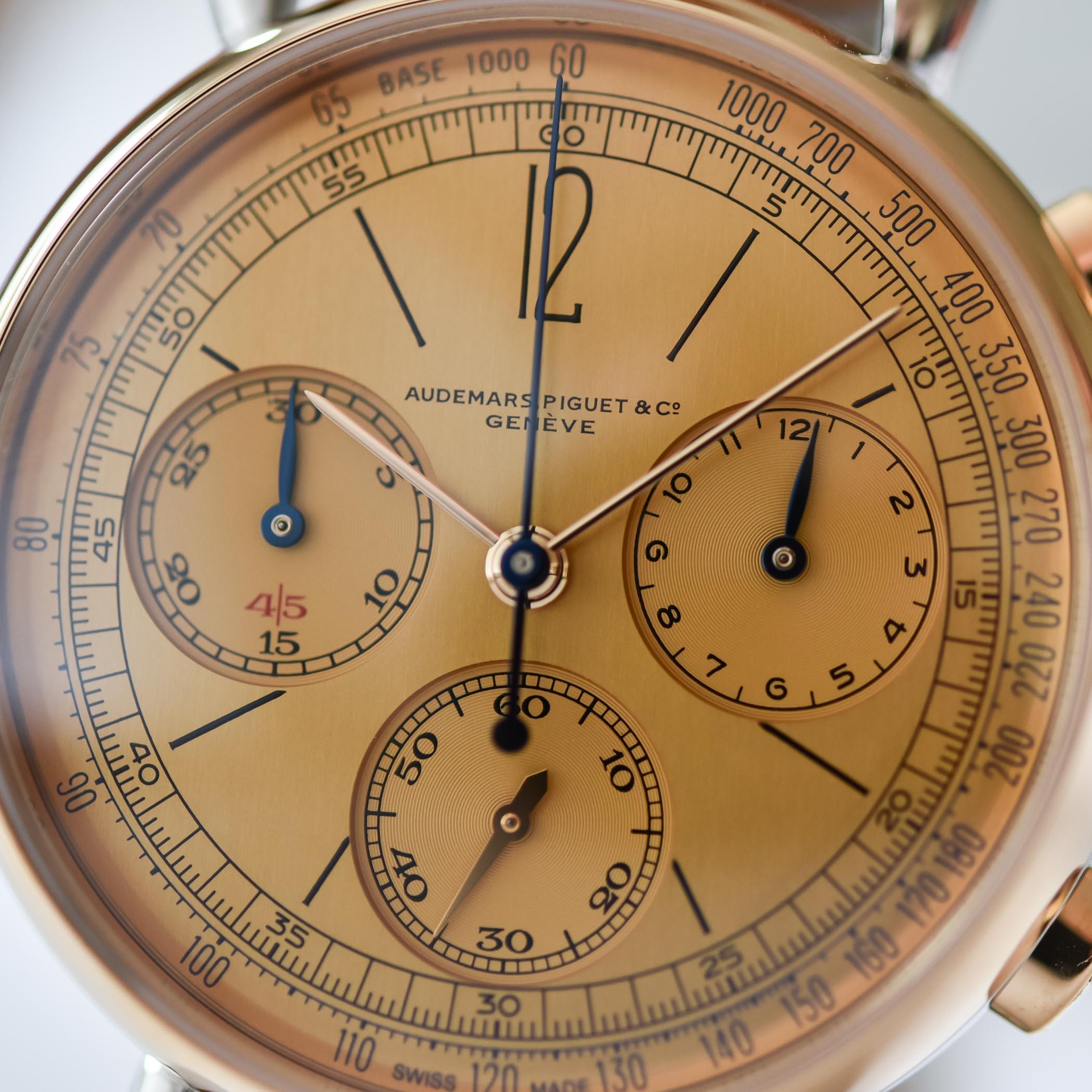 Detalle de la esfera del Audemars Piguet [Re]master01 Selfwinding Chronograph