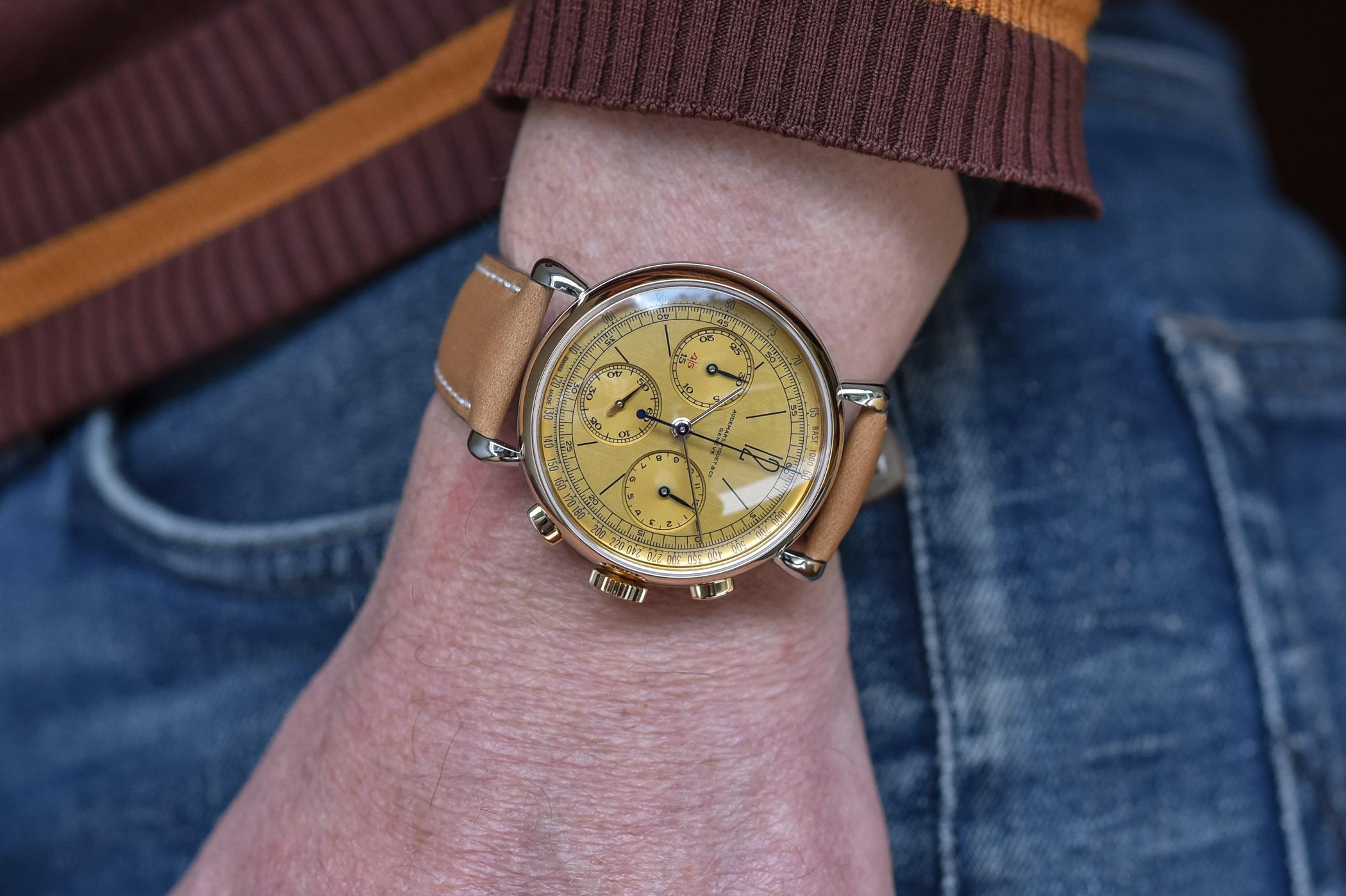 El Audemars Piguet [Re]master01 Selfwinding Chronograph, puesto