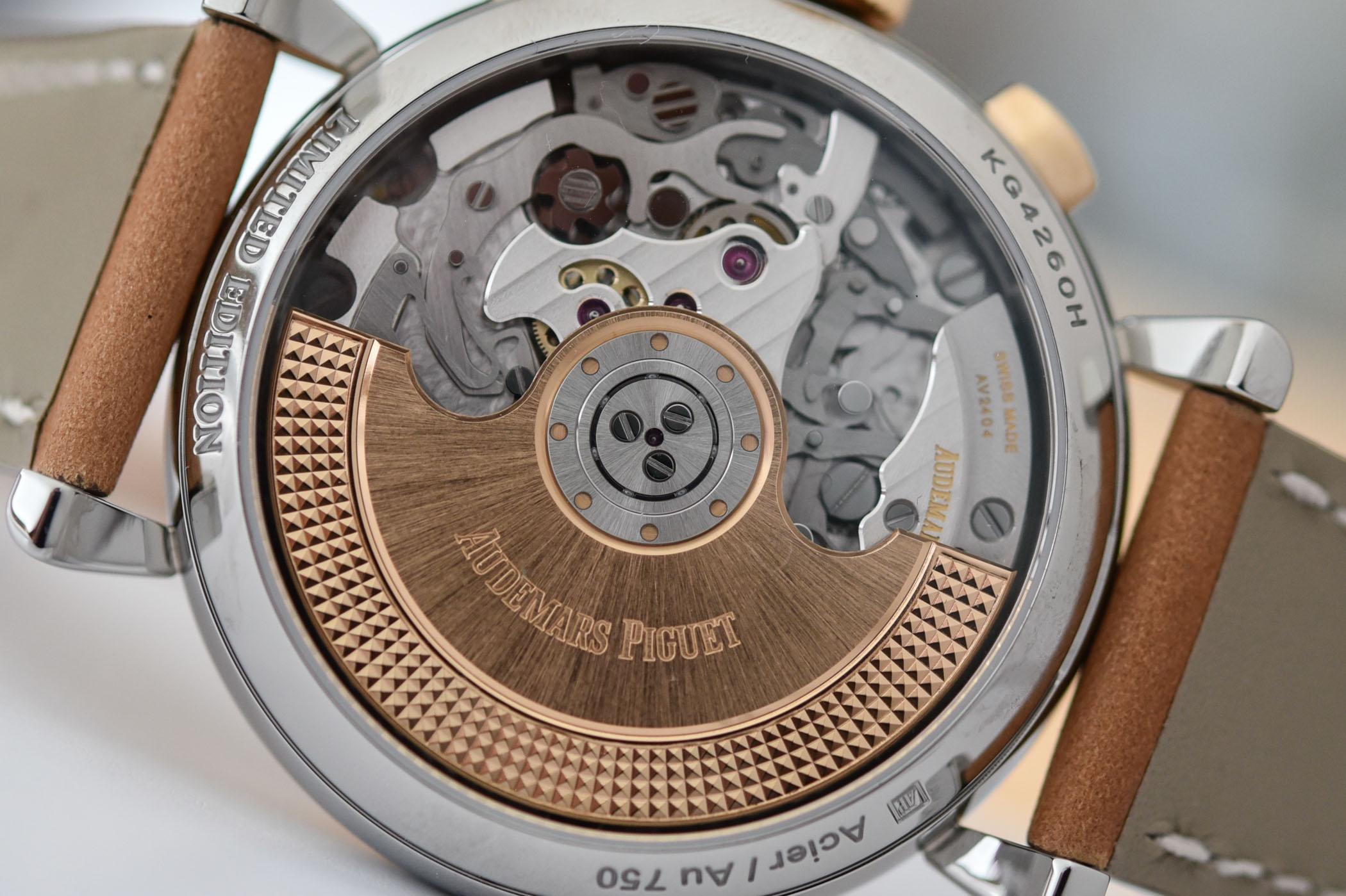 Detalle del calibre 4409 del Audemars Piguet [Re]master01 Selfwinding Chronograph
