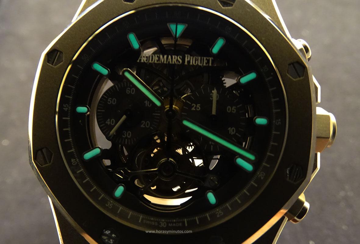 Audemars Piguet Royal Oak Tourbillon Chronograph SuperLuminova Horas y Minutos