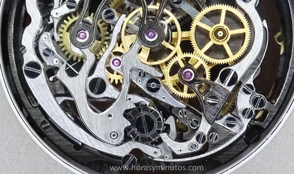 Audemars Piguet Royal Oak Tourbillon Chronograph calibre 2936 - detalle Horas y Minutos