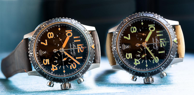Los dos modelos BREGUET TYPE XXI 3815 Titanio
