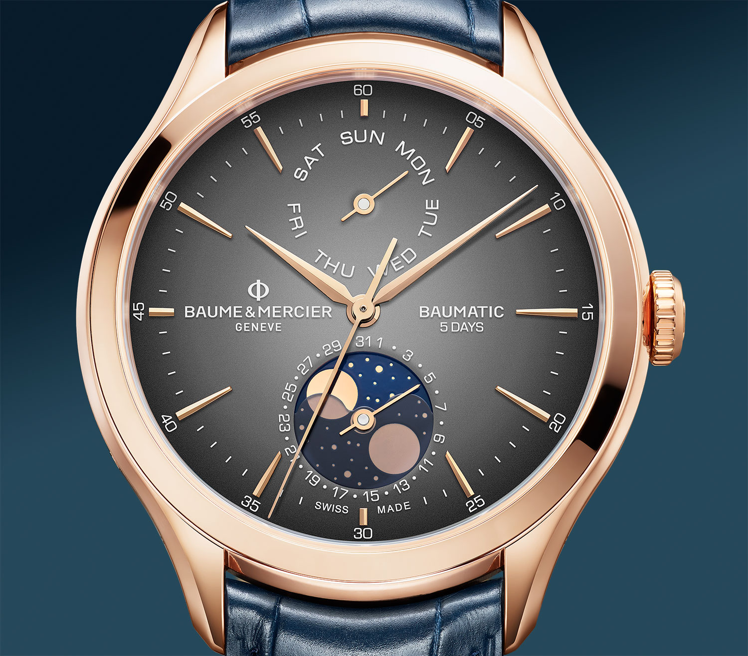 Baume & Mercier Baumatic Day Date Moon Phase